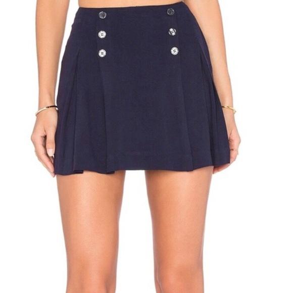 3e3037b59 Free People Skirts | Navy Mini Sailor Skirt Size 0 | Poshmark
